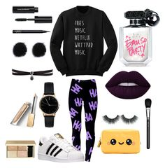 """Going to school"" by divergent101 ❤ liked on Polyvore featuring adidas, Freedom To Exist, Fallon, Victoria's Secret, MAC Cosmetics, Anya Hindmarch, Burberry, NARS Cosmetics and Bobbi Brown Cosmetics"