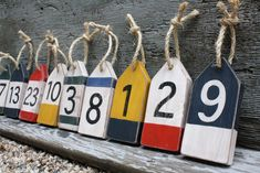 Oh Buoy Nautical Beach Wedding Table Numbers von TheUnpolishedBarn