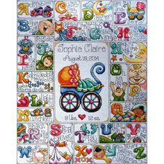 Design Works: Counted Cross Stitch Kit. This would be an awesome baby gift idea!