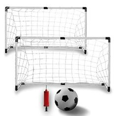 Amazon.com : K-Roo Sports Youth Soccer Goals with Soccer Ball and Pump (Set of 2) : Sports & Outdoors