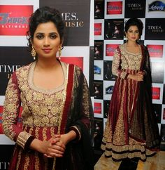 Bollywood-Celebrities-Latest-Anarkali-Summer-Dresses-2014-1