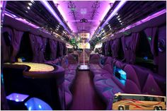 Custom Limo Party Bus Builder - Party Buses for Sale Limousine Interior, Bus Interior, Limousine Car, Interior Ideas, Interior Design, Party Bus For Sale, Limo Party, Party Party, Party Time
