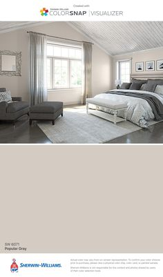 I found this color with ColorSnap® Visualizer for iPhone by Sherwin-Williams: Popular Gray (SW 6071).