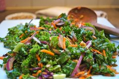 A Kale Salad Kids Love. Recipe on Mom's Kitchen Handbook