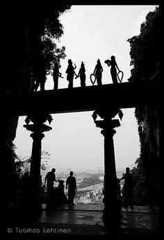 Gate in front of the Batu Caves (a Hindu shrine), near Kuala Lumpur, Malaysia