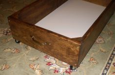 wheeled drawers for under-the-bed storage! just need to find a cheap old dresser
