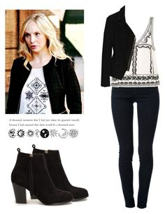 Caroline forbes - tvd / the vampire diaries Vampire Diaries Jewelry, Vampire Diaries Fashion, Cute Casual Outfits, Stylish Outfits, Fashion Outfits, Womens Fashion, Tv Show Outfits, Fandom Outfits, Caroline Forbes