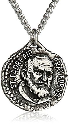 Bob Siemon Sterling Silver Saint Padre Pio Medal 20 * Read more  at the image link.Note:It is affiliate link to Amazon. #harrystyles