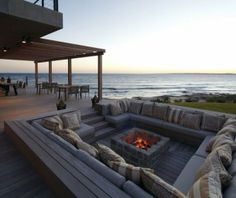 Beach Lounge with Fireplace.