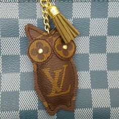 Owl charm for @kristywilson210 On hold for @kristywilson210 - I hope you love it!  Handbag charm or keychain upcycled from 100% authentic Louis Vuitton canvas.   LV canvas is used on both sides so you don't have to worry about the charm flipping over.  Check my closet for tassel and bead color options.   These are handmade with LVoe :) Louis Vuitton Accessories Belts