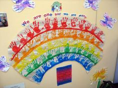 Multicultural Activity Ideas | Handprint Rainbow Lesson Plan: Multicultural Art and Craft Lessons ... #MulticulturalArtsandCrafts
