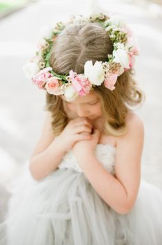 Floral crowns for the flower girls