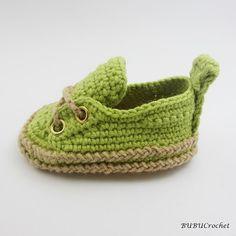 Green Baby Sneakers Crochet baby sneakers Crochet by BUBUCrochet