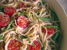 Whole-Wheat Linguine with Green Beans, Ricotta, and Lemon from CookingChannelTV.com