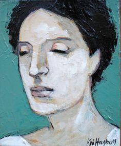 "Original painting ""Sandra"" 25 cm x 20 cm Acrylic on Canvas by Kai Hagberg"