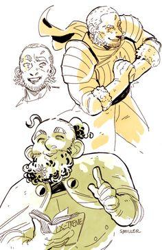 More @theadventurezone sketches! Magnus and Merle