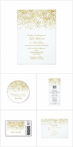 Tiny Gold Dots Confetti Party Collection