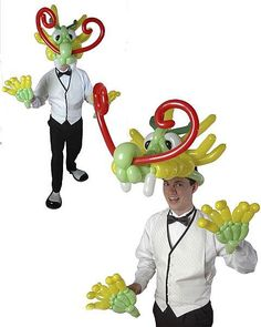 Turn yourself into a dragon with this balloon hat