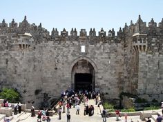 Damascus Gate to Old Jerusalem. I miss this so much.