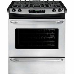 Frigidaire 4.6 cu. ft. Slide-In Gas Range - Stainless Steel Frigidaire® FFGS3025PS 30 x 28.312 x 36.625
