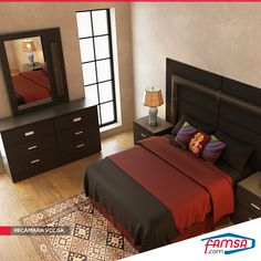 This bed is more comfortable than the others bed Bed Headboard Design, Bedroom Bed Design, Bedroom Furniture Design, Bedroom Decor, Bedroom Sets, Dark Wood Bedroom Furniture, Bed Furniture, Recamaras King Size, Simple Bed Designs