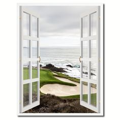 Pebble Beach California Picture 3D French Window Canvas Print Gifts Home Décor Wall Frames
