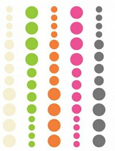 SN@P! DIY 5130 - DOTS PINK, GREEN & ORANGE 60 STK   SIMPLE STORIES-DIY DIY Enamel Dots Embellishments: Pink, Green & Orange.Give your paper crafts a colorful look! This package contains sixty adhesive enamel dots in five different colors and three different sizes on one 4x3 inch backing sheet. Acid-free and lignin-free.