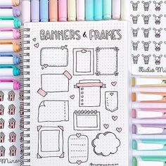 New banners and frames that you can find in your bullet journal or in your study . - New banners and frames that you can find in your bullet journal or in your study … room - Bullet Journal School, Bullet Journal Writing, Bullet Journal Headers, Bullet Journal Banner, Bullet Journal Aesthetic, Bullet Journal 2019, Bullet Journal Ideas Pages, Bullet Journal Inspiration, Bullet Journal Frames