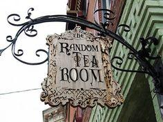 Vintage Random Tea Room sign--join me?