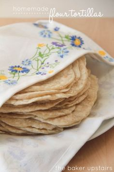 homemade flour tortillas are the best! Serve with tacos or as a bread to any main dish.