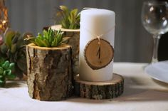 Set of 12 Log Slice Table Numbers: *with option of adding additional Numbers…