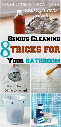 8 Genius Cleaning Tricks For Your Bathroom. Which part of the house do you hate to clean? For me, it's the bathroom urgh!