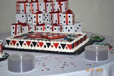 Vegas themed cake;wedding shower