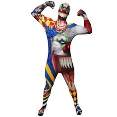Morphsuits Monster Scary Clown, Multi, Medium Skinsuit  - Click image twice for more info - See a larger selection of  scary props at http://costumeriver.com/product-category/scary-props/ - halloween, events, holiday , trick or treat, scary, costume, halloween party , halloween decoration