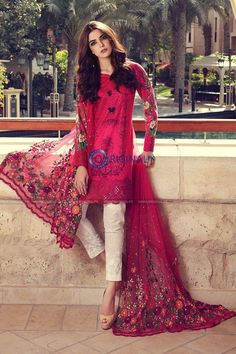 Buy Maria B Online In Pakistan Maria B Lawn Dress Design No. Maria B Replica Lawn Embroidered Suit – Unstitched  Embroidered Front  Printed Back Pakistani Couture, Pakistani Outfits, Indian Outfits, Pakistani Fashion Casual, Emo Outfits, Modest Dresses, Casual Dresses, Fashion Dresses, Women's Casual