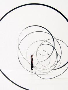 Kimihiko Okada | Ribbon    Art installation by the Japanese designer Kimihiko Okada.    http://cargocollective.com/ookd