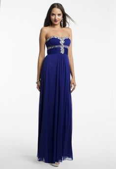 Mesh Strapless Beaded Dress from Camille La Vie and Group USA