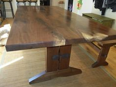 Hand Crafted Walnut Crotch Dining Room Table by Michael Olczak Design | CustomMade.com