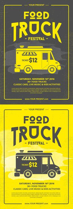 Food Truck Festival Menu Food Brochure Street Food Template Design - Food truck flyer template