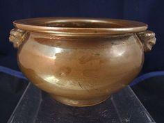 Chinese brown monochrome glaze censer Wanli period