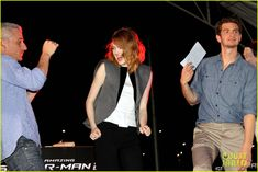 Emma Stone & Andrew Garfield Hold Hands at Earth Hour Kick-Off Event! | emma stone andrew garfield hold hands at earth hour kick off 18 - Ph...
