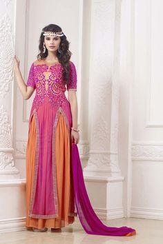 Pink Georgette Designer Suit