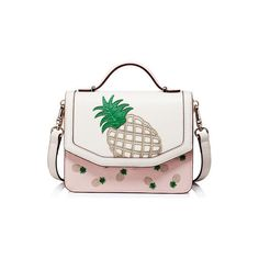 Pink Small Casual Satchel - StyleWe.com ($54) ❤ liked on Polyvore featuring bags, handbags, white satchel bag, white purse, white satchel, pink handbags and white bag