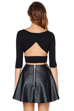Nasty Gal Crossed Out Crop Top..  The whole out fit I would wear I love this outfit...