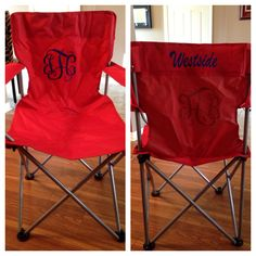 Monogrammed chair.....