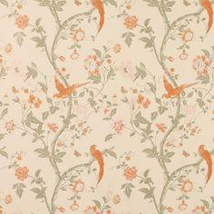 .  Terracotta Floral Wallpaper