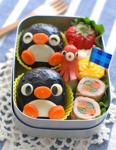 See my related post: Character Bento Bento Box Lunch For Kids, Bento Kids, Cute Bento Boxes, Japanese Food Art, Japanese Lunch Box, Cute Food, Yummy Food, Kawaii Bento, Food To Go