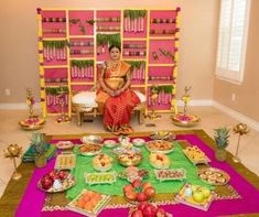 ideas for indian bridal shower photography Housewarming Decorations, Baby Shower Decorations, Flower Decorations, Parties Decorations, Wedding Decorations, Wedding Ideas, Festival Decorations, Trendy Wedding, Wedding Photos