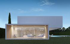 The house and the vertexes - Gallardo Llopis Arquitectos Minimalist House Design, Minimalist Architecture, Minimalist Home, Modern House Design, Facade Design, Exterior Design, Residential Architecture, Interior Architecture, Facade House