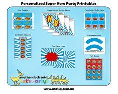 Super Hero Birthday Party Printable Collection